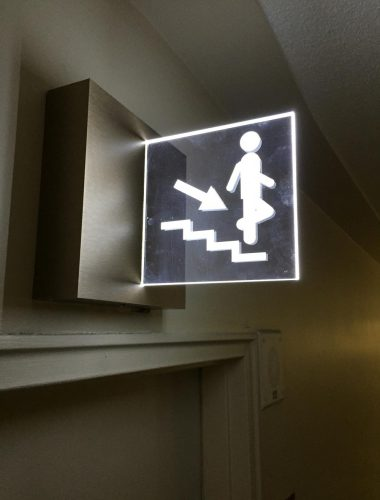 Le regency office double sided directional signage for stairs