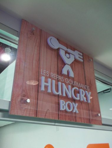 Hungry Box pvc and acrylic sign