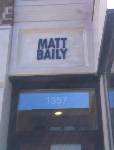 matt bailey aluminium black anodized letters