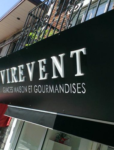 VIREVENT PVC dimensional letters with vinyl face