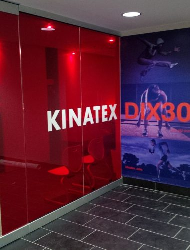 kinatex dix30 large format mural and clear red vinyl
