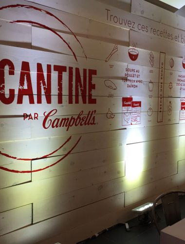 la cantine red vinyl lettering