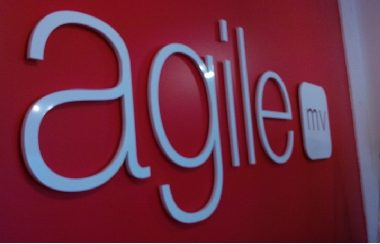 agile reception office acrylic plexiglass letters