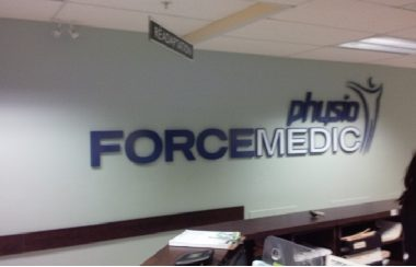 clinic forcemedic- acrylic lettering