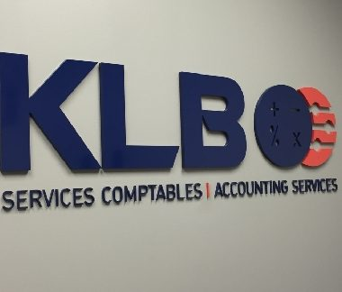 klb painted acrylic lettering