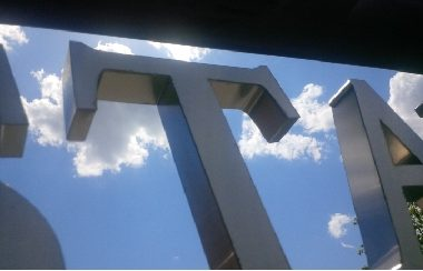 Mcgill university fabricated stainless steel letters