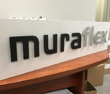 Muraflex mix of aluminium letters and painted aluminium letters