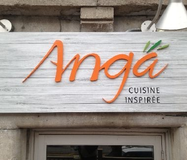 ANGA – PVC dimensional letters with vinyl face