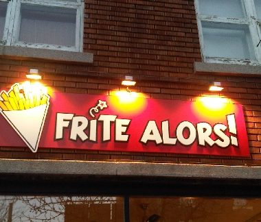 Frite Alors Villeray pvc sign with pvc letters