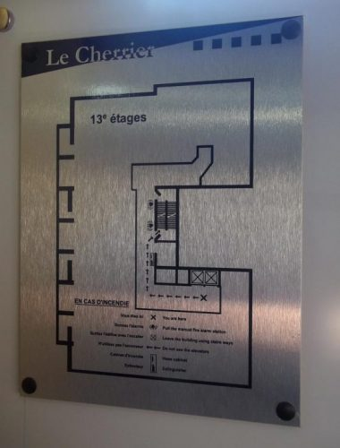 building management- Edifice Cherrier – alupanel sign