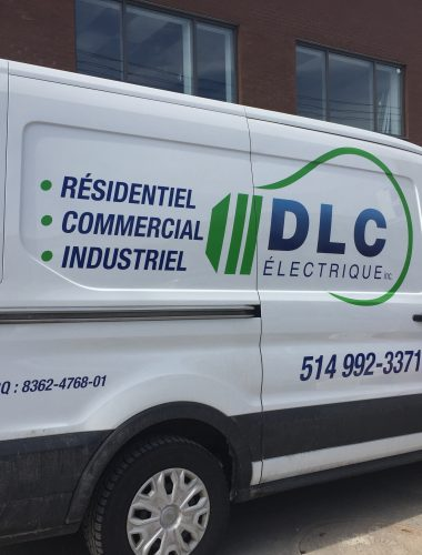 DLC Electric – truck lettering-vehicle printing- car wrap-montreal car wrap