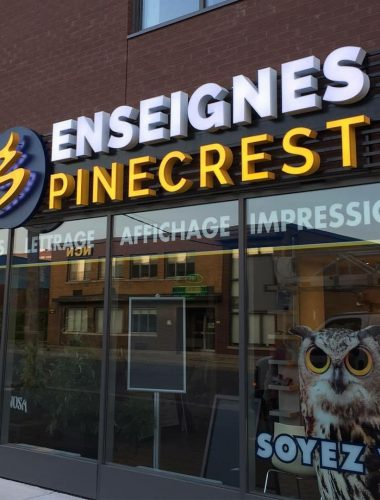 Enseignes Pinecrest – Ahuntsic- illuminated letters-Channel letters