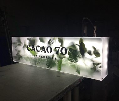 Cacao 70 -montreal-griffin town- acrylic lightbox