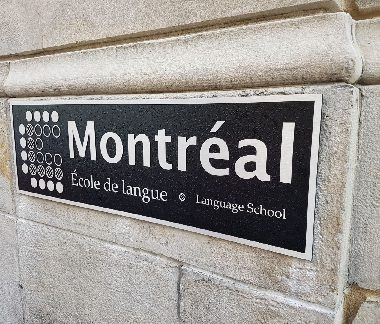 Ecole de langue CLC – brushed aluminium cast plaque
